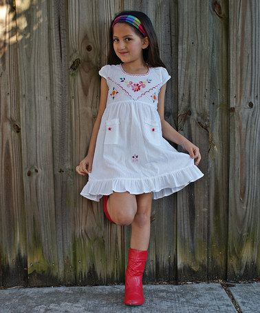 Look what I found on #zulily! White Leonor Dress - Infant ...