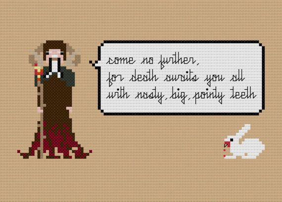 Monty Python xstitch from weelittlestitches
