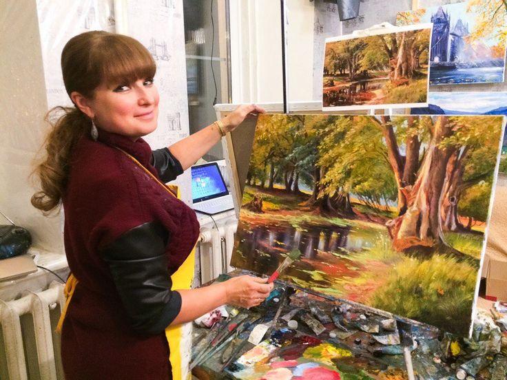 Меня зовут Полина Сахарова, я провожу мастер классы живописи в Москве. Не знаете куда пойти? Вы напишете красивую картину маслом на холсте с моей помощью за 4 часа. Стоимость 2500 р - все включено! Спешите записаться +79153401133 на берегу реки парк листва красивая картина яркая холст масло живопись арт art master class oil paint painting studio москва уроки живописи маслом научиться рисовать хенд мейд своими руками краски художник искусство handmade идеи творчество импрессионизм мастихин