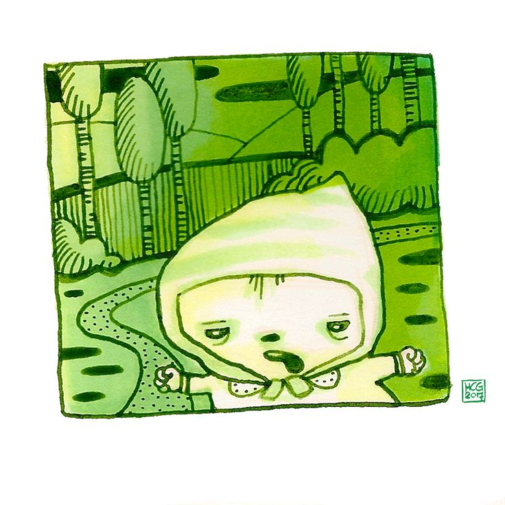 'BosBeebie' Illustratie met markers en inkt by Hilda groenesteyn / studio Hille