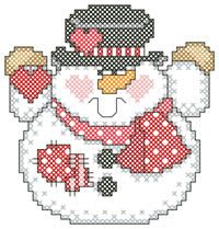SNowmanValentine Snowman, Multiplication Options, Valentine'S Snowman, Free Crosses, Cross Stitch Charts, Stitches Charts, Snowman Plastic Canvas, Cross Stitches, Crosses Stitches Winte