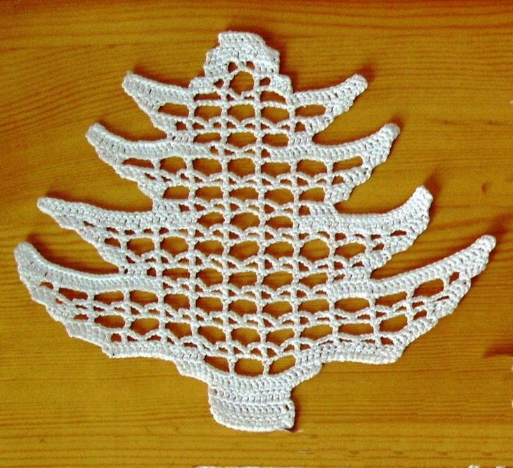 Crochet Christmas ornaments Horgolt fenyőfa