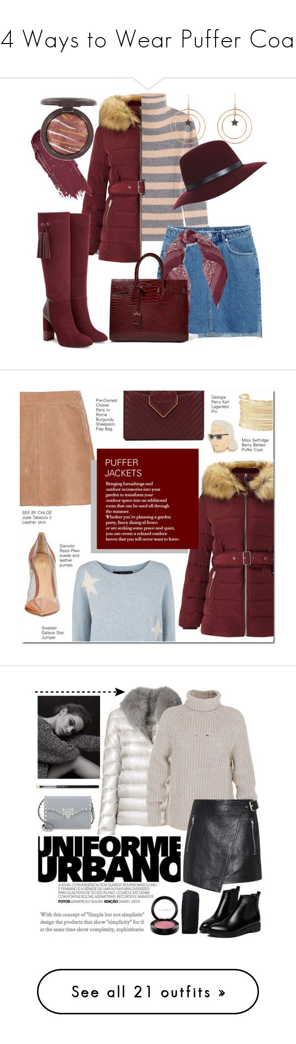 """14 Ways to Wear Puffer Coats"" by polyvore-editorial ❤ liked on Polyvore featuring puffercoats, 81 Hours, H&M, Miss Selfridge, Latelita, Chan Luu, Aquatalia by Marvin K., Yves Saint Laurent, See by Chloé and 360 Sweater"