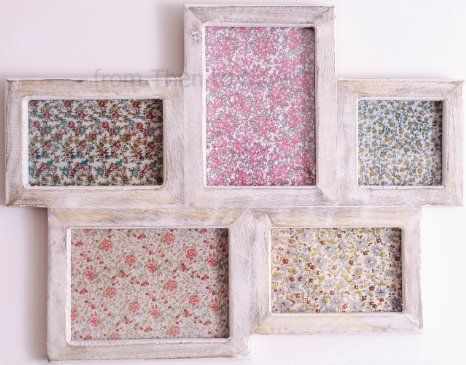 Sass & Belle - Five Multi Photo Frame - White Wood Effect: Amazon.co.uk: Kitchen & Home