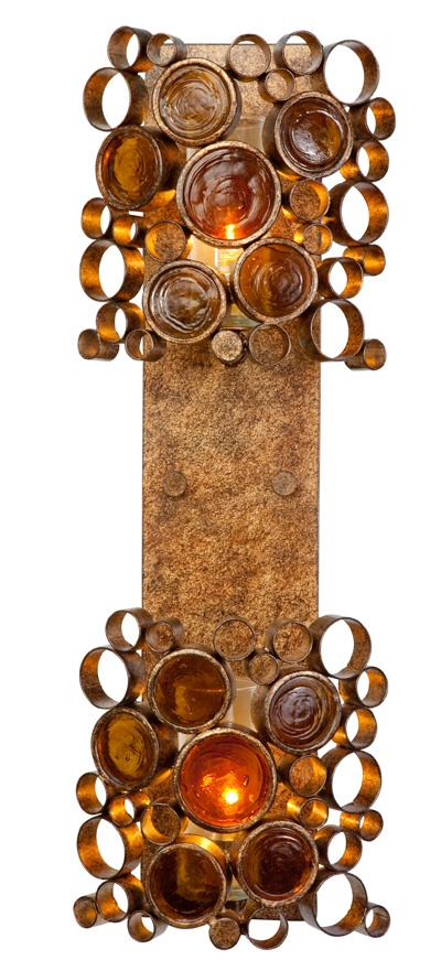 Recycled Varaluz Fascination Halogen Sconce - Vertical Two Light Kolorado 193K02KO :: Recycled Sustainable Modern Lighting from Varaluz