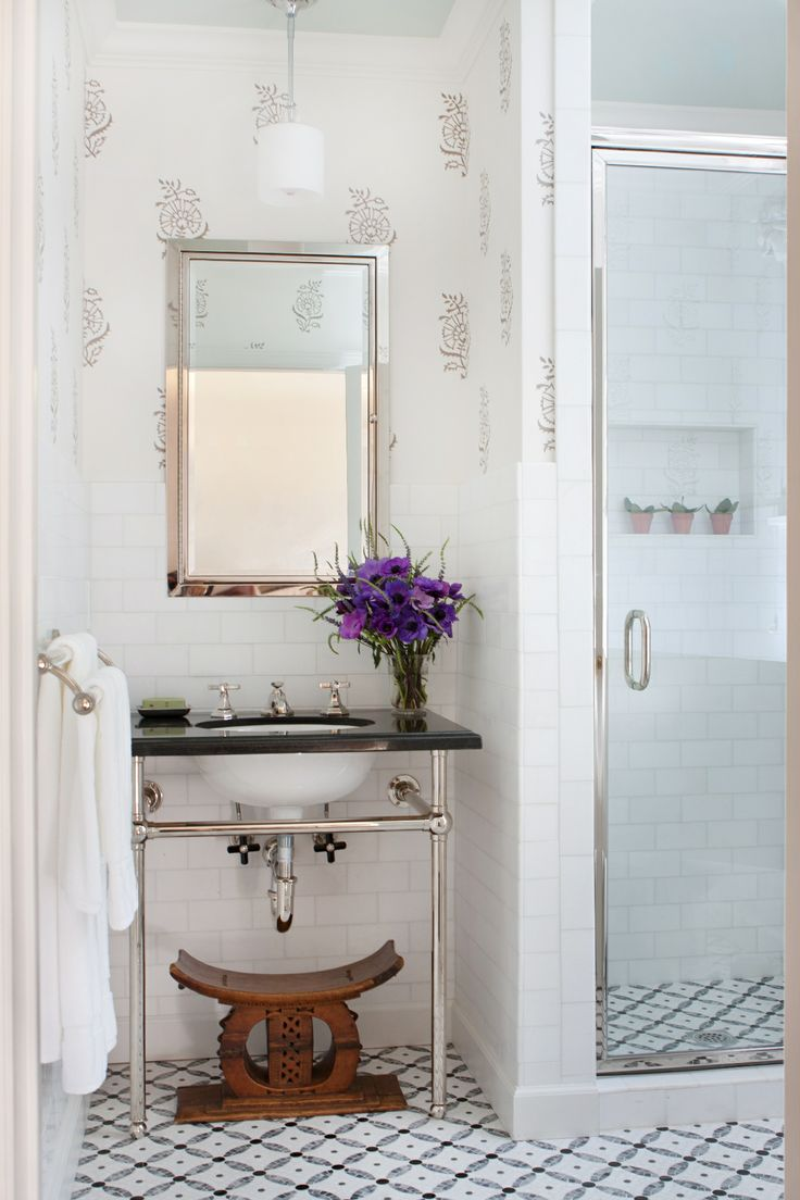 Interior Design By Anna Hackathorn Bathroom Powder Room Guest Bath Gray And