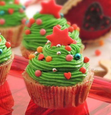 Cupcake albero di Natale, l'icona delle feste diventa ancora più dolce...