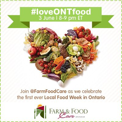Help us cultivate awareness and build appreciation for farming and food in Ontario. Ask all of your questions, celebrate farm families and help us tell the stories of the farmers who work hard to grow the fresh Ontario food that we enjoy so much. Tell your friends and get your questions ready for the #loveONTfood Twitter Party. Make sure you follow us on twitter @Farm & Food Care for daily updates. See you there!!