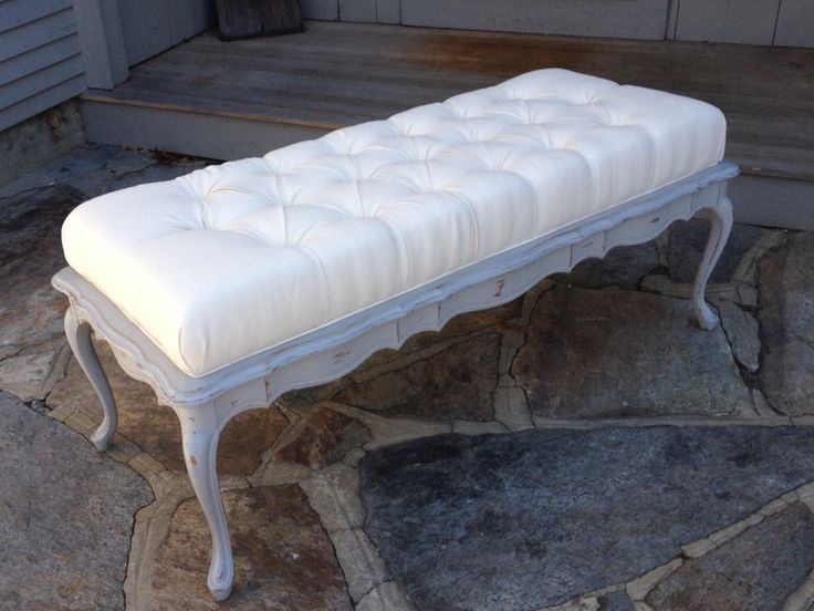 Great French Ottoman Coffee Table In Linen