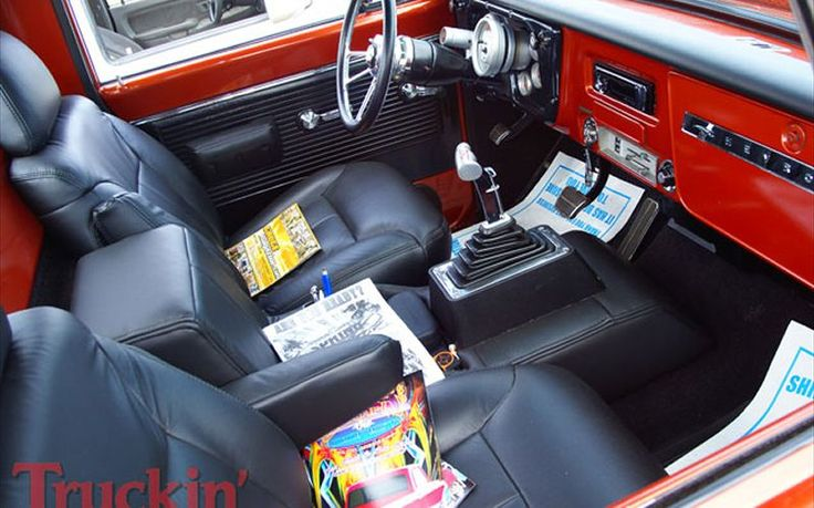 Image Of Red And Black Truck Interior Google Search Auto Design Pinterest C10 Trucks