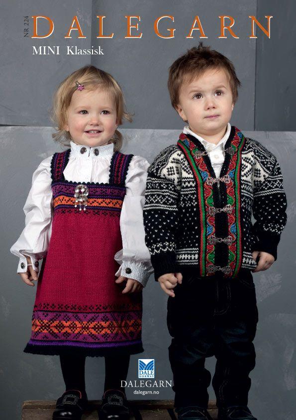 #DaleGarn Free Download Patterns DG224 Mini Klassisk Knits for Kids #Bunad #Retro