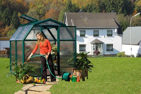 Serre de jardin polycarbonate Rion Monet (197x197x193)