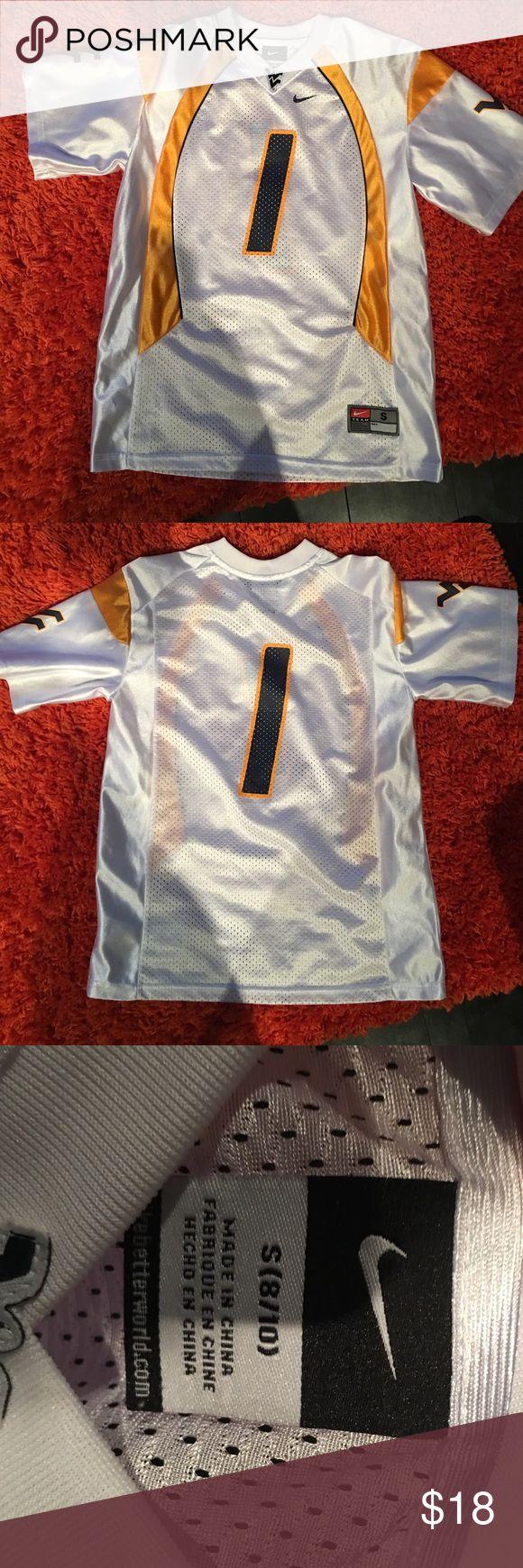 Nike mountaineers football jersey.  #1 Nike mountaineers football jersey #1.   Size 8/10 small great shape. Nike Shirts & Tops