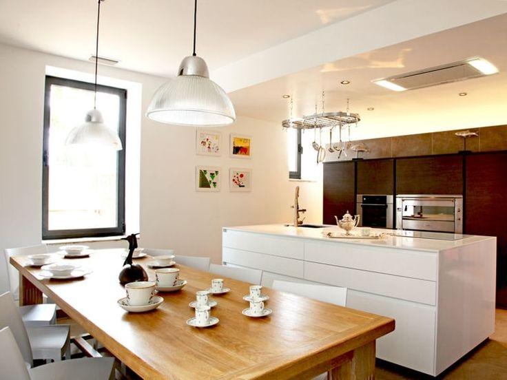Les Meilleures Idées De La Catégorie Cuisine Blanc Laqué Sur - Table carree blanc laque avec rallonge pour idees de deco de cuisine