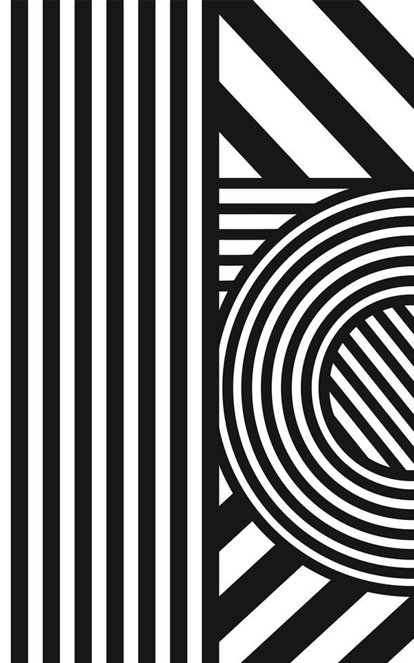 Carta da parati Oriz, Geometria in Bianco e Nero in 2020