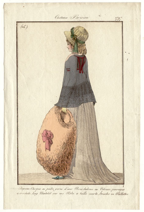 Large muff with bow 1797 Costume parisien