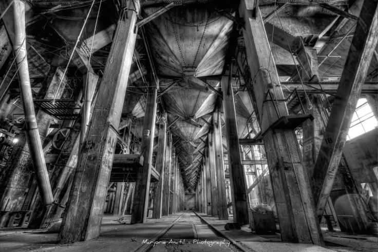 Prints available starting at $40. Urbex photography, Black and white, Symmetry, Silo 5, Montreal, Quebec. 2015.