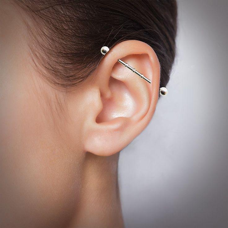Piercing industriel en acier chirurgical pour le cartilage