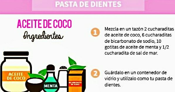 Aceite de coco  Pasta de dientes