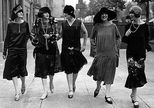 vintage tip 3 dames uit 1920