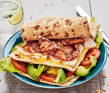 Recept: Club sandwich på tunnbröd