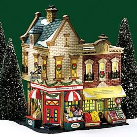 "Department 56: Products - ""Johnson's Grocery & Deli"" - View Lighted Buildings. Retired Christmas in the city"