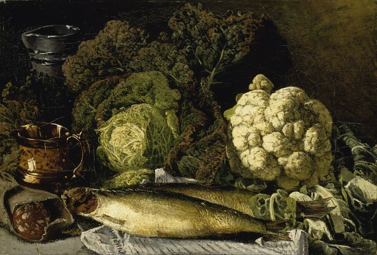 Fanny Churberg - Still Life with Vegetables and Fish