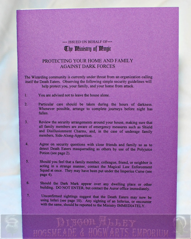 Protecting Your Home and Family Pamphlet , Perfect for any Witch, Wizard or Harry Potter fan. $7.00, via Etsy.: Home And Family, Potter Fans, Etsy, Families Pamphlet, Witch, Home And Families, Harry Potter, Protection Your Home, Potter Protection