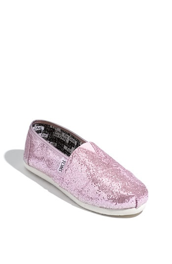 TOMS 'Classic Youth - Glitter' Slip-On (Toddler, Little Kid & Big Kid) available at Nordstrom