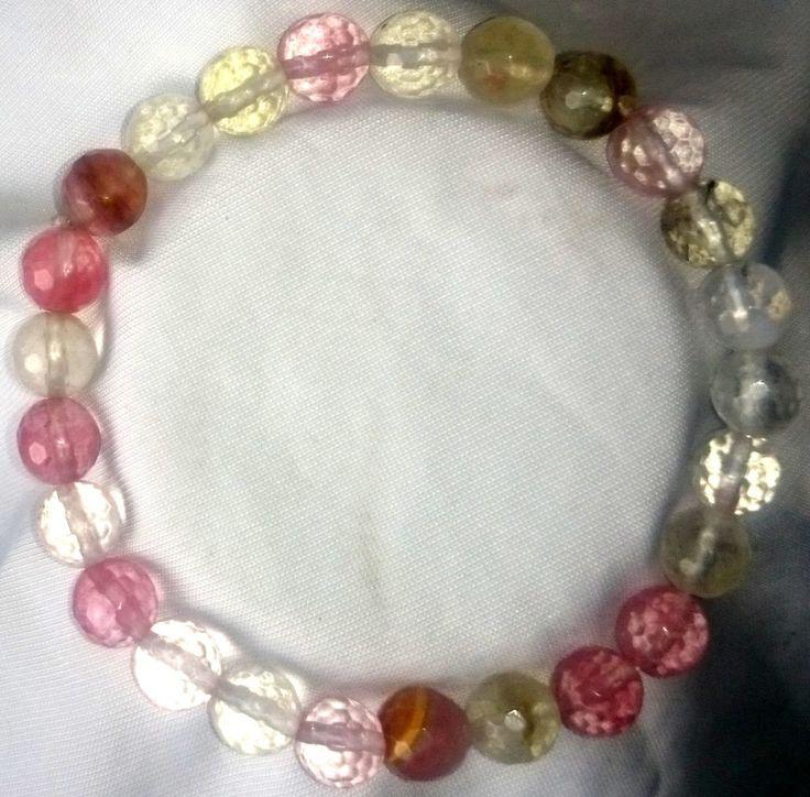 Wassermelonenturmalin facettiert Armband Bracelet