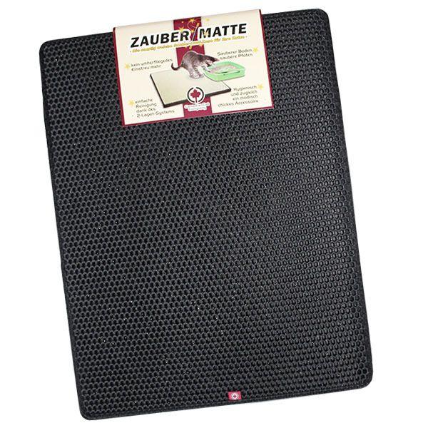 Nie mehr Katzeneinstreu im Haus !    Die 2-Lagen Zauber-Matte von der CanadianCat Company  Durch die Verwendung von besonders strapazierfähigen und leichten Materialien kann die Zauber-Matte kinderleicht angehoben und...