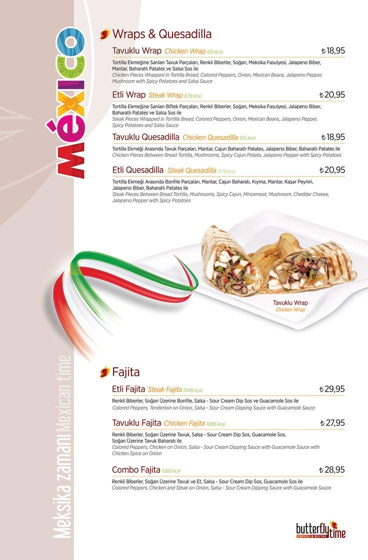 Wraps & Quesadilla - Fajita Menü