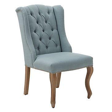 Casual elegance. Archer Side Chair in Venetian Blue, $349.00 #ZGallerie