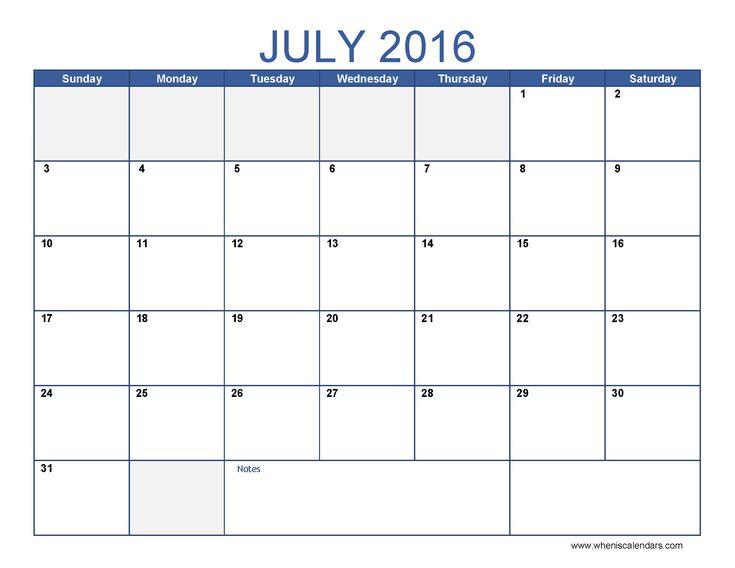 Mer enn 25 bra ideer om July 2016 calendar template på Pinterest - office template calendar