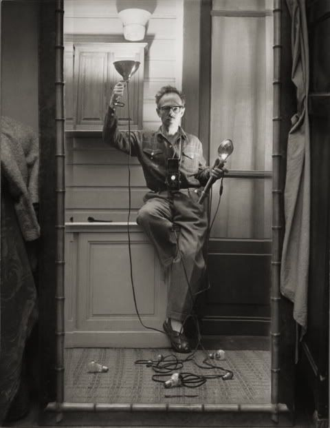 Willy Ronis, Self-portrait with flash, 1951.