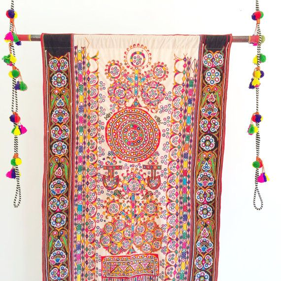 Hey, I found this really awesome Etsy listing at https://www.etsy.com/listing/205131547/embroidered-indian-mirror-work-wall