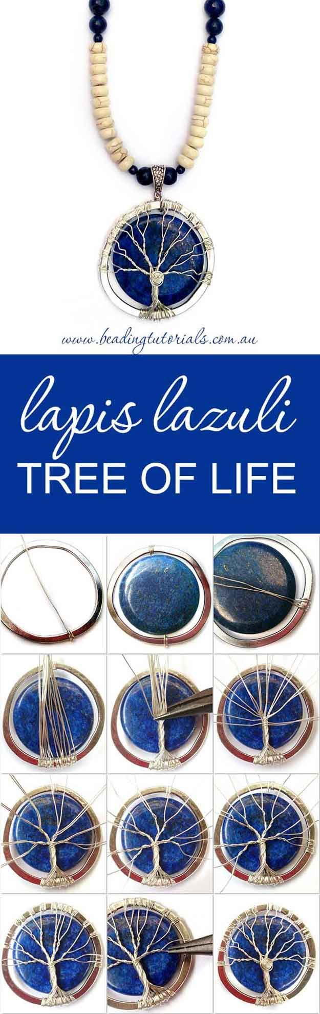 Fun DIY Tree of Life Necklace Tutorials | Tree of Life Necklace by DIY Ready at http://diyready.com/12-diy-tree-of-life-ideas/