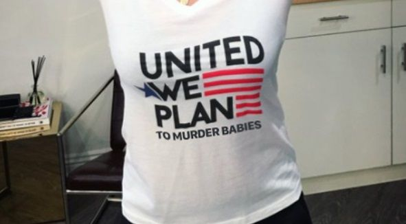 Clueless celebrities tout sickening Planned Parenthood T-shirts celebrating abortion: United we Plan (to murder babies)