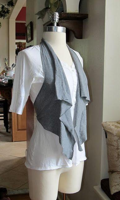 diy no sew vest from tshirt
