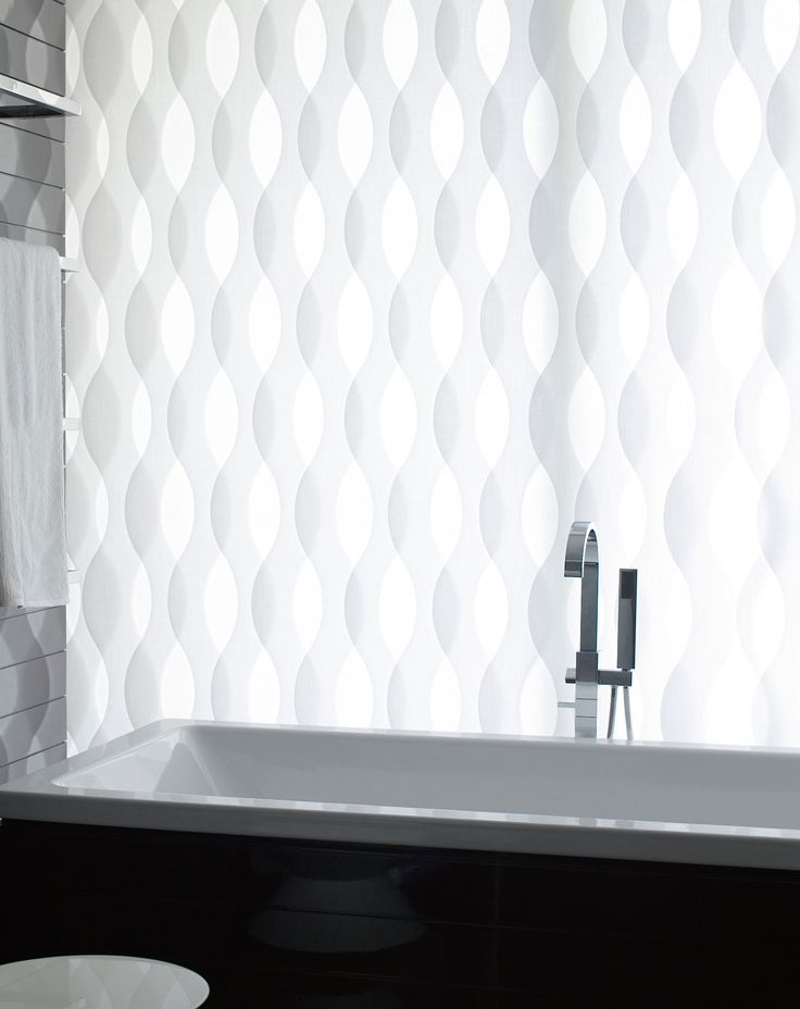 Vertical Blind System with Vertical Waves  and Visiotex Fabric