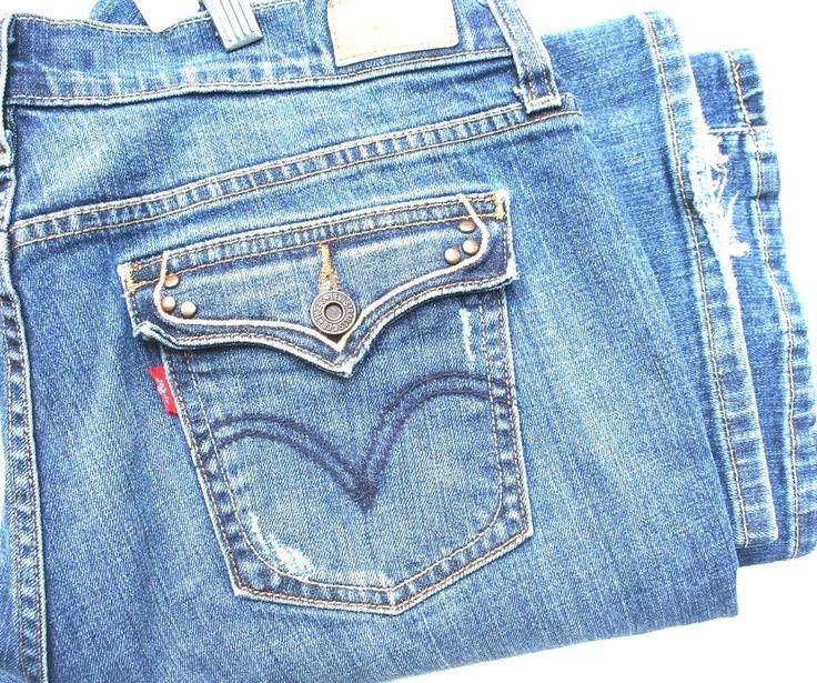 LEVIS Bootcut 512 Stretch Denim Jeans Women Pant Medium Size  10 #Levis #BootCut