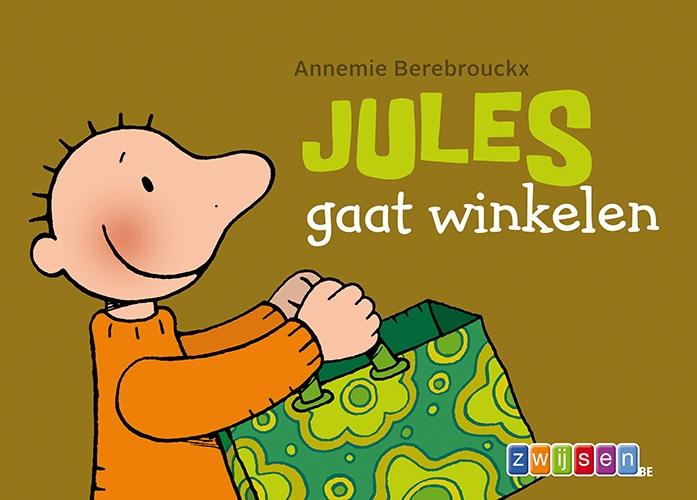 Jules gaat winkelen Annemie Berebrouckx   Jules en opa gaan te voet naar de winkel. Ze kopen er groenten en fruit. Maar kan Jules de boodschappentas wel dragen?