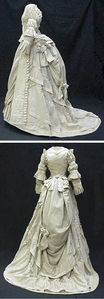 'Day after' wedding dress 1875.