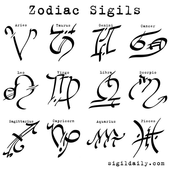 The complete set of #sigil art style #zodiac symbo…