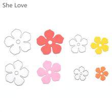 Ella Ama 4 unids Metal Flores DIY Troqueles De Corte Troquelado Stencil Decorativo Scrapbooking(China (Mainland))