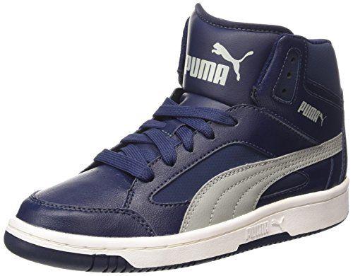 Puma PUMA Rebound v.2 Hi, Unisex-Erwachsene Hohe Sneakers, Blau (peacoat-limestone gray 13), 44 EU (9.5 Erwachsene UK) - http://on-line-kaufen.de/puma/44-eu-9-5-erwachsene-uk-puma-rebound-v-2-hi-unisex-2
