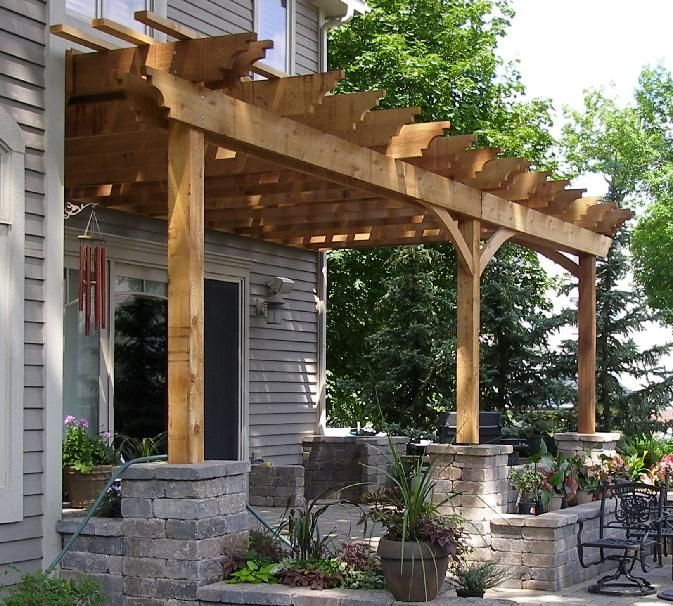 Pergola Attached To House Google Search Home Exteriors