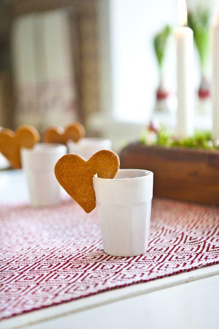 Cookies Coração para Copo de Chocolate
