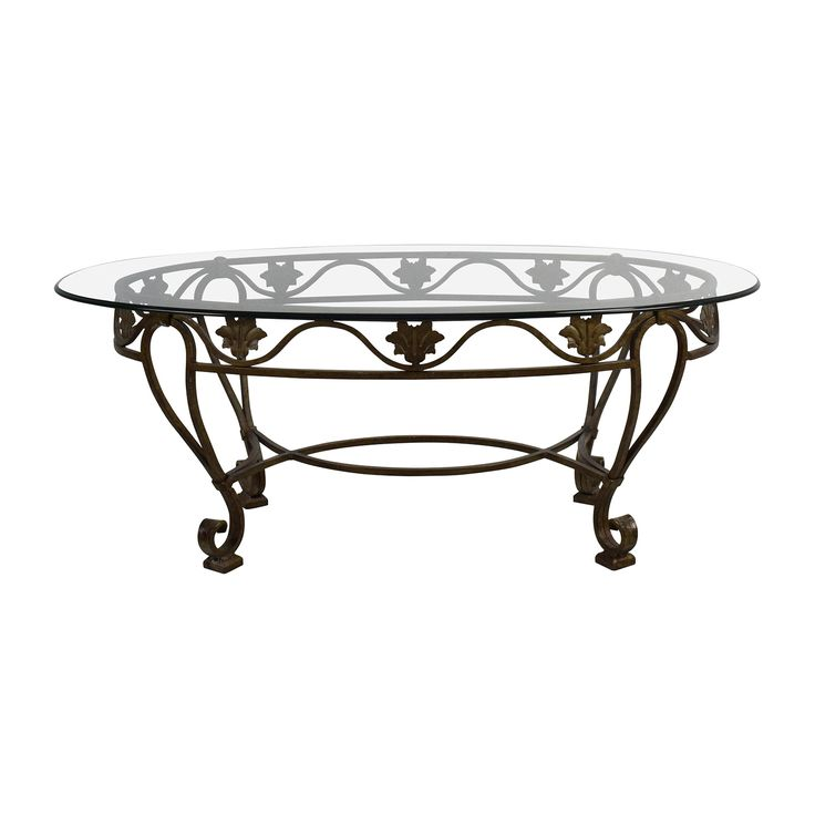 Cast Iron Glass Top Coffee Table