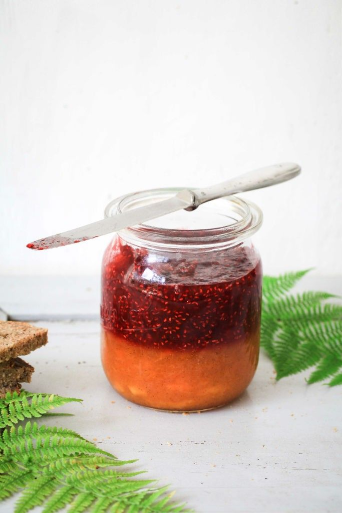 Pfirsich Melba Marmelade - peach melba jam - Sommer im Glas Post aus meiner Küche - Himbeermarmelade Pfirsichmarmelade mit Vanille